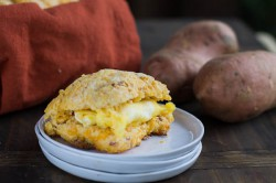 Sweet Potato Bacon Cheddar Biscuits Recipe