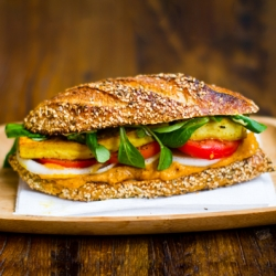 Tofu Sandwich with Golden Spread