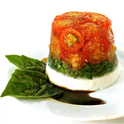 Tomato, Basil and Goat Cheese Salad
