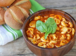 Tomato Basil Soup with Chicken Sausage and Tortellini Recipe