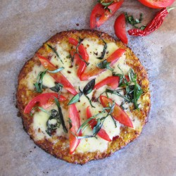 Tomato Pizza with Cauliflower Crust Recipe