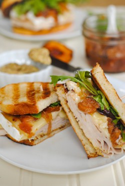 Turkey Brie and Peach Panini Recipe