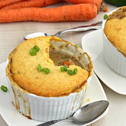 Turkey Pot Pie with Cornbread Topping Recipe