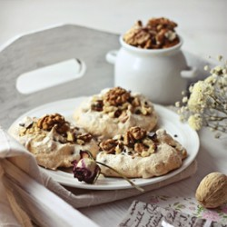 Walnut Meringue Cookies