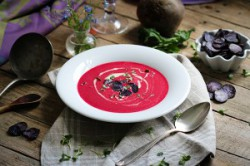 Wasabi-Beetroot Soup