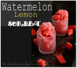 Watermelon Lemon Sorbet