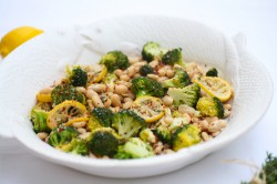 White Beans Broccoli Lemon Red Pepper
