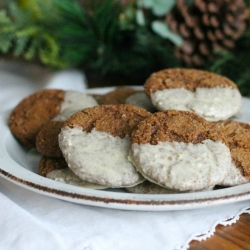 White Chocolate Dipped Ginger Cookies Recipe