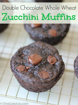 Whole Wheat Choco Zucchini Muffins
