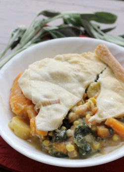 Winter Squash Pot Pie with Swiss Chard and Chickpeas Recipe
