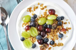 Yogurt Grape, Blueberries