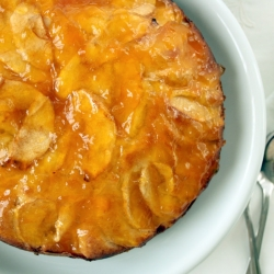 Apple Cake with Apricot Jam