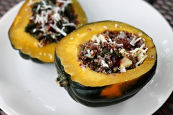 Apple Cider Quinoa Stuffed Acorn Squash Recipe