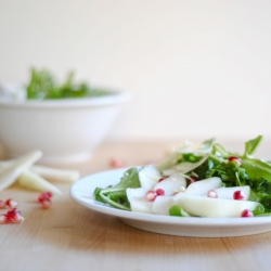 Arugula Pear and Pomegranate Salad Recipe