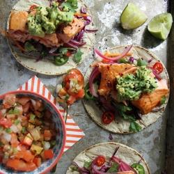 Asian Salmon Tacos Recipe