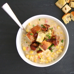 Bacon Cheddar Corn Chowder Recipe