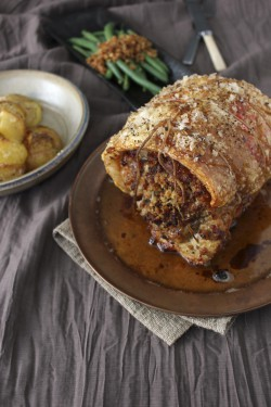 Bacon, Sage and Pepper Rolled Roast