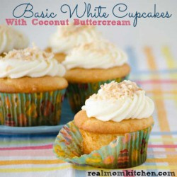 Basic White Cupcakes with Coconut