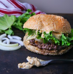 Beef Burgers with Smashing Sauce