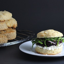 Beet and Goat Cheese Biscuit Sandwich Recipe