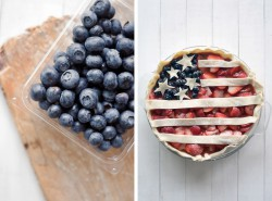 Berry Balsamic Patriotic Pie
