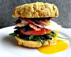 Biscuit Breakfast Sandwich with Maple Dijon Bacon and Egg Recipe