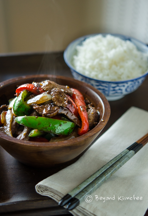 Black Bean Beef and Peppers Stir Fry Recipe