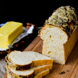 Black Olive Crusted Cheese Loaf