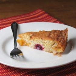 Blackberry Peach Cake