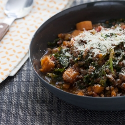 Braised Beluga Lentils with Kale and Rosemary Recipe