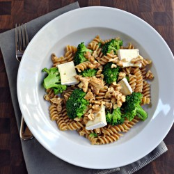 Broccoli, Brie, and Walnut Rotini