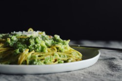 Broccoli Cream Pesto Pasta