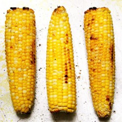 Broiled Corn with Pizza Toppings
