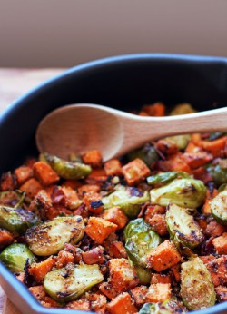 Brussels Sprouts Sweet Potato Hash
