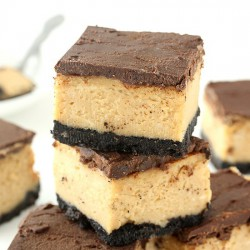 Buckeye Cheesecake Bars