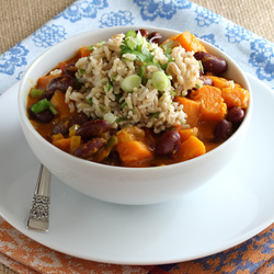 Butternut Squash and Red Bean Stew