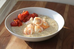 Butter-Poached Shrimp and Grits
