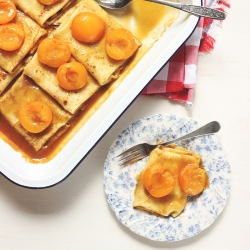 Butterscotch Apricot Crepe Bake Recipe