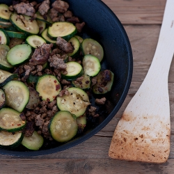 Buttery Zucchini with Ground Beef