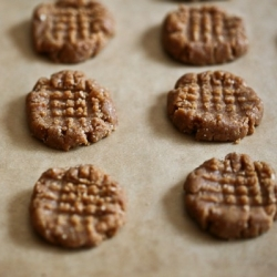 Cacao Dusted Peanut Butter Cookies Recipe