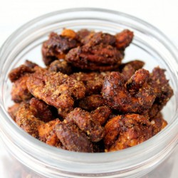 Candied Sriracha Snacking Nuts