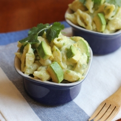 Cheddar with Avocado Lime Shell Pasta Recipe