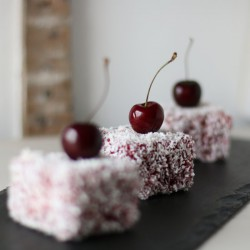 Cherry Lamingtons