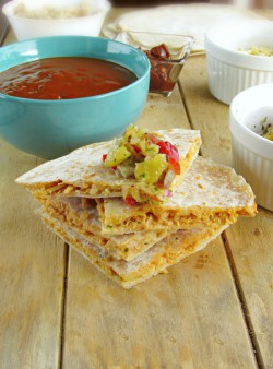 Chipotle BBQ Chicken Quesadillas