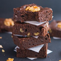 Chocolate Walnut Avocado Brownies