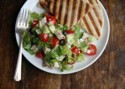 Chopped Chicken Greek Salad
