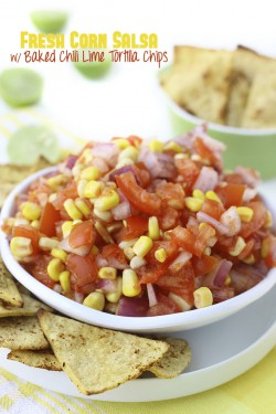 Corn Salsa w/ Chili Lime Chips
