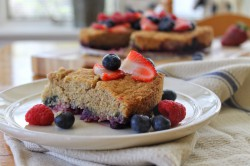 Cornmeal Berry Cake