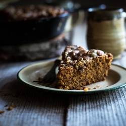 Creme Fraiche Cornmeal Pumpkin Coffee Cake Recipe