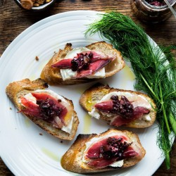 Duck Prosciutto with Fig Onion Jam
